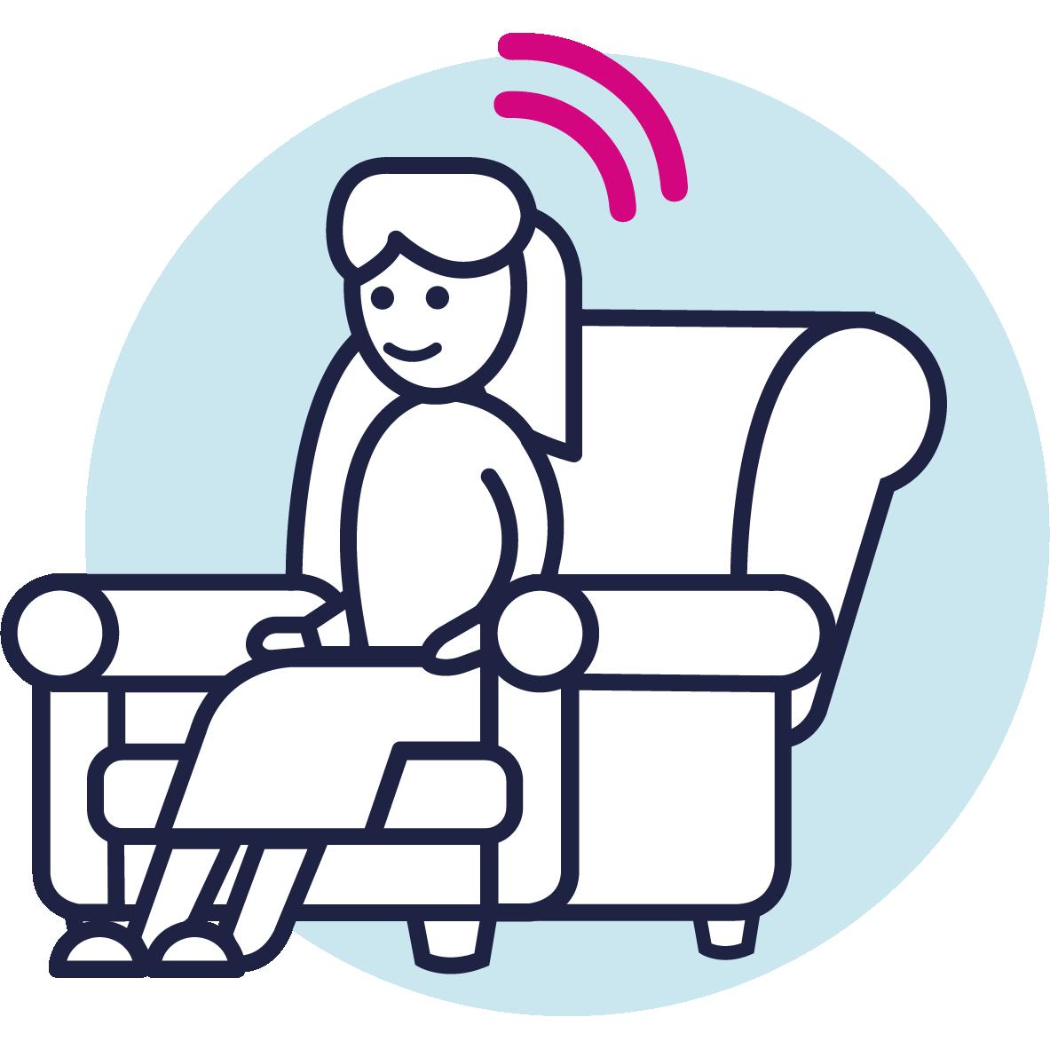 Convenient hearing check icon