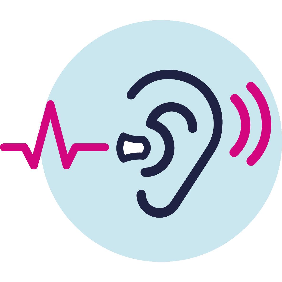 Dynamic hearing icon