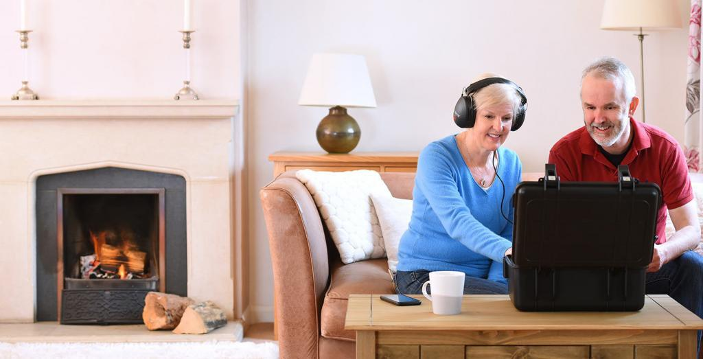 Taking the home hearing test